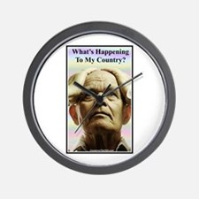 """""""What's Happening?"""" Wall Clock"""