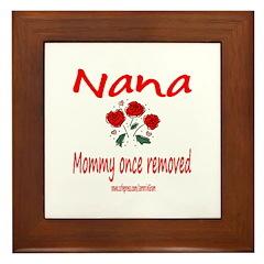 NANA ONCE REMOVED Framed Tile