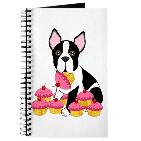 Boston Terrier with Cupcakes Journal