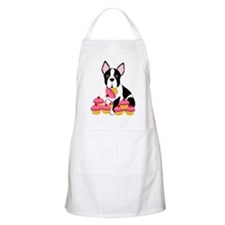 Boston Terrier with Cupcakes BBQ Apron