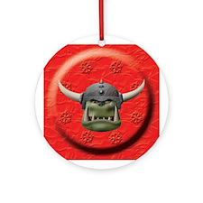 Orc Head Ornament (Round)