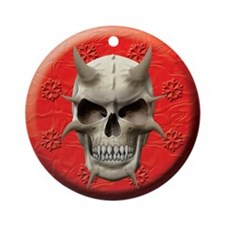 Demon Skull Ornament (Round)