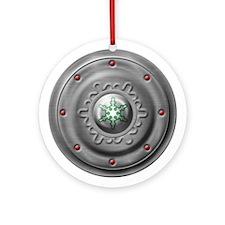 Snowflake Buckler Ornament (Round)
