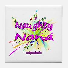 NAUGHTY NANA Tile Coaster