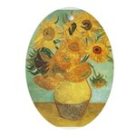 Van Gogh's Sunflower Oval Ornament