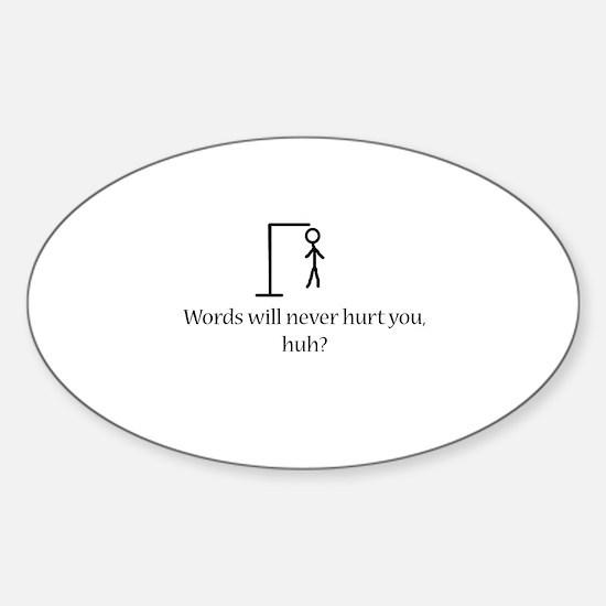 Hang Man Oval Decal