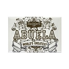 Property Of Abuela Rectangle Magnet (100 pack)