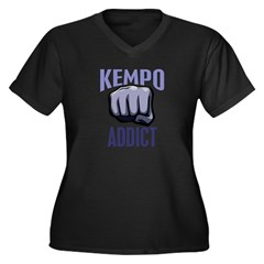Kempo Addict Women's Plus Size V-Neck Dark T-Shirt