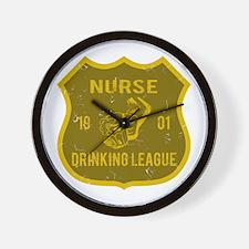 Nurse Drinking League Wall Clock