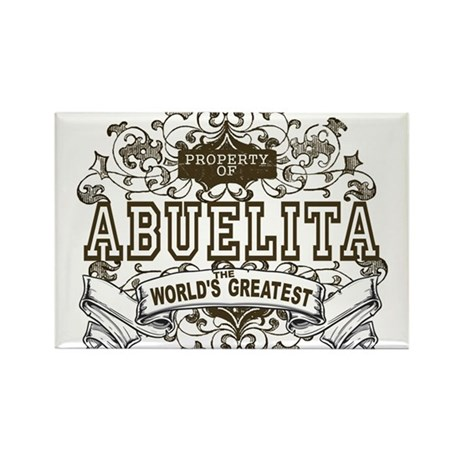 Property Of Abuelita Rectangle Magnet (100 pack)