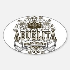 Property Of Abuelita Oval Decal