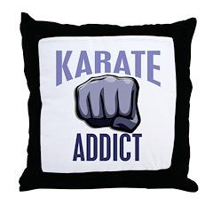 Karate Addict Throw Pillow