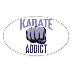 Karate Addict Oval Sticker (50 pk)