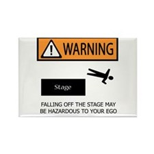 Warning: Stage Fall Rectangle Magnet