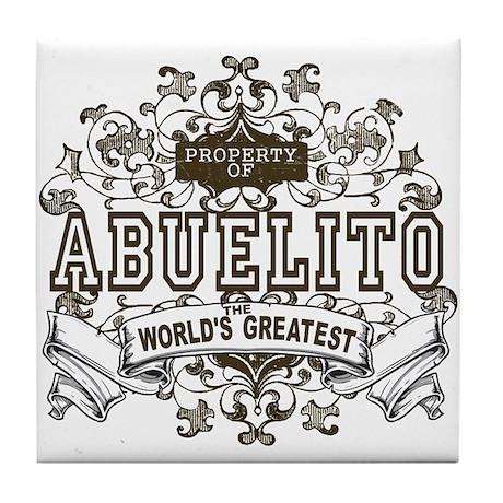 Property Of Abuelito Tile Coaster