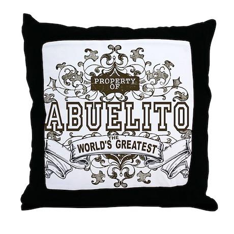 Property Of Abuelito Throw Pillow