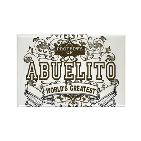 Property Of Abuelito Rectangle Magnet