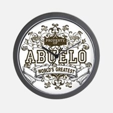 Property Of Abuelo Wall Clock