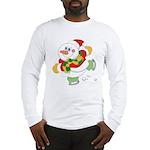 Snowman Ice Skating Long Sleeve T-Shirt