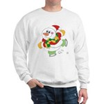Snowman Ice Skating Sweatshirt