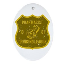 Pharmacist Drinking League Oval Ornament