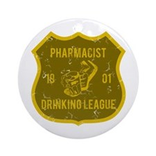 Pharmacist Drinking League Ornament (Round)