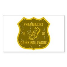 Pharmacist Drinking League Rectangle Decal