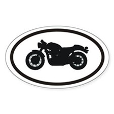 Motorcyclist Oval Decal