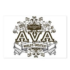 Property Of Ava Postcards (Package of 8)