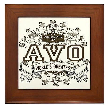 Property Of Avo Framed Tile