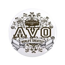 "Property Of Avo 3.5"" Button (100 pack)"