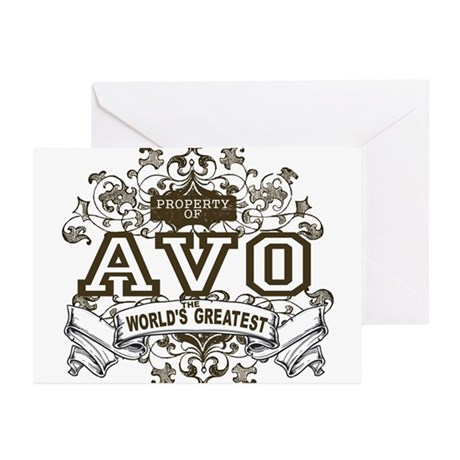 Property Of Avo Greeting Cards (Pk of 10)