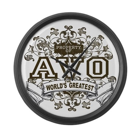 Property Of Avo Large Wall Clock