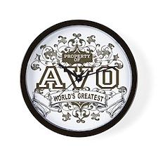 Property Of Avo Wall Clock