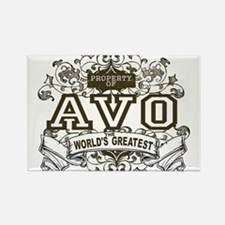 Property Of Avo Rectangle Magnet