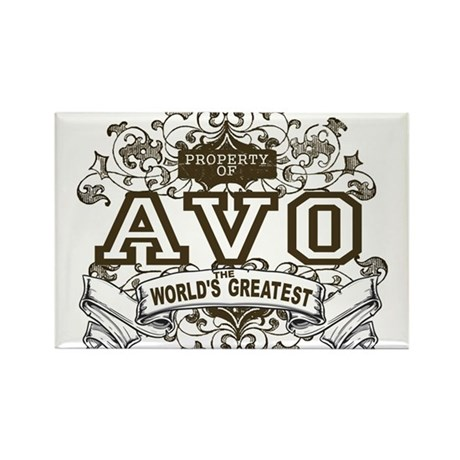 Property Of Avo Rectangle Magnet (100 pack)