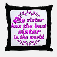 Best Sister Throw Pillow