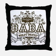 Property Of Baba Throw Pillow