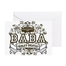 Property Of Baba Greeting Card