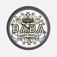 Property Of Baba Wall Clock