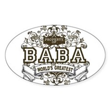 Property Of Baba Oval Decal