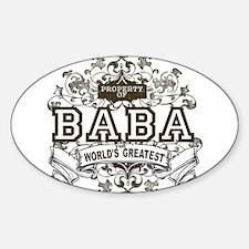 Property Of Baba Oval Decal