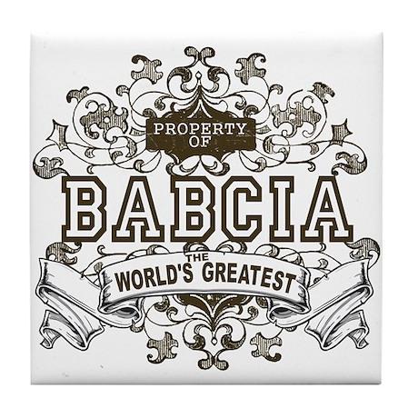 Property Of Babcia Tile Coaster