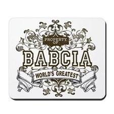 Property Of Babcia Mousepad