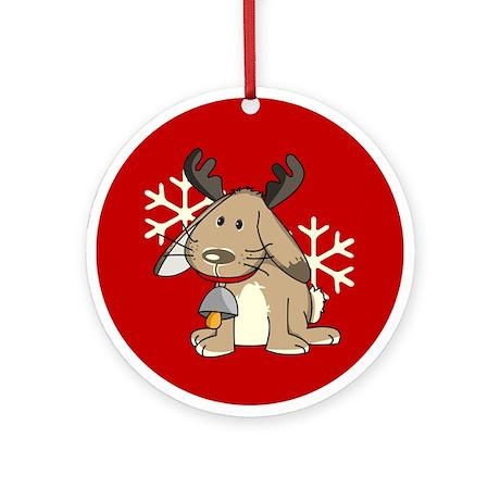 Cute little reindeer Ornament (Round)