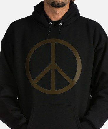 Cool Vintage Peace Sign Hoodie (dark)