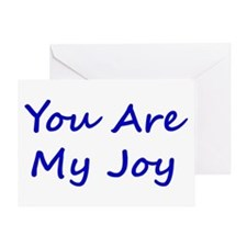 You Are My Joy blue script Greeting Card