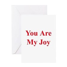 You Are My Joy red Greeting Card