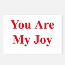 You Are My Joy red Postcards (Package of 8)