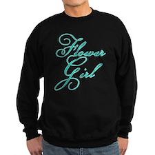 Elegant Font Flower Girl Sweatshirt